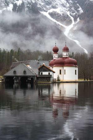 Church of St  Bartholomew on Lake Knigssee in Germany