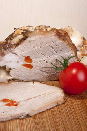 Baked veal stuffed with carrots