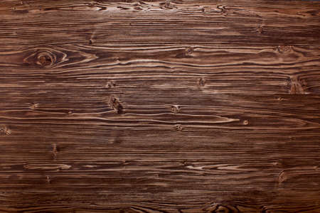 Background - old dark brown pine Stock Photo