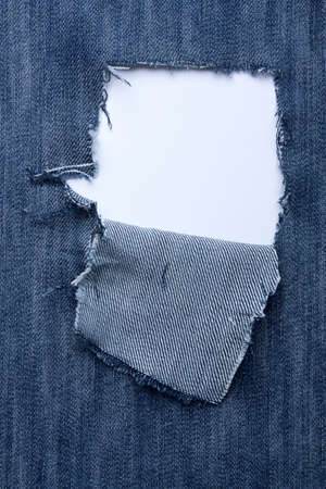 Jeans with holes  and a place for text Stock Photo
