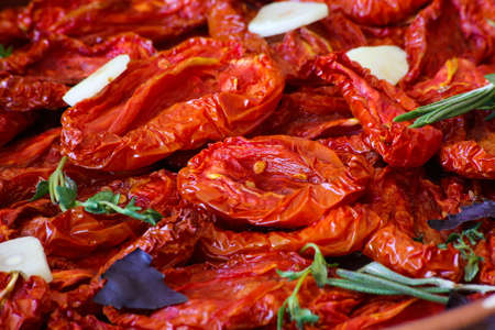 Sun-dried tomatoes, close-up