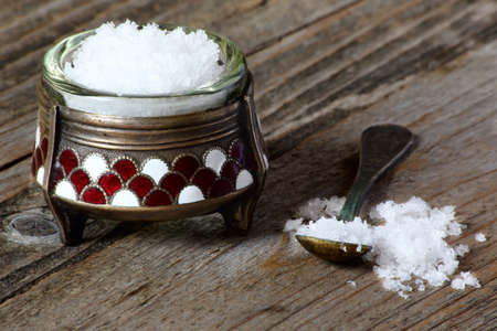 Nutritional salt in an old salt cellar