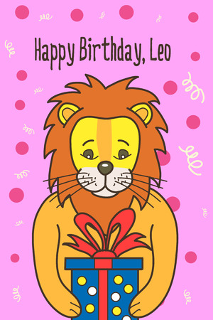 Vector cartoon birthday card Ilustrace