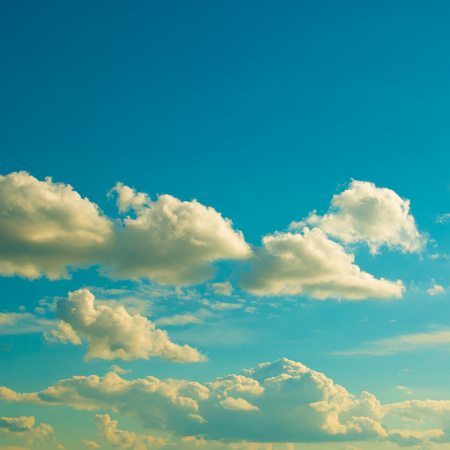 clime: Bright clouds on a clear day