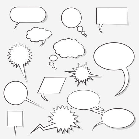 Clouds of dialogs for comics different in vector