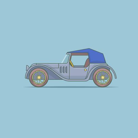 vector illustration of an old car model Ilustração