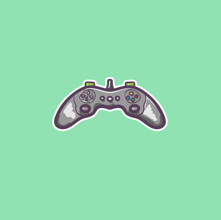 simple color illustration of gamepad in vector Иллюстрация