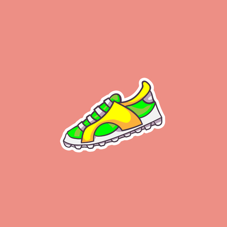 simple vector color illustration of bright sneaker