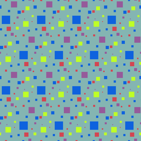 seamless background of colored squares in vector for decoration fabrics and different textures Ilustração