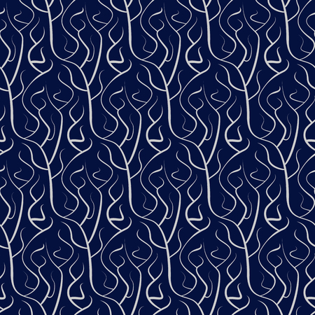 seamless branch pattern in vector for decoration fabrics and different textures