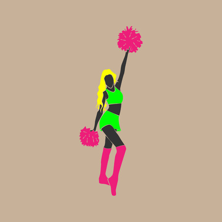 vector illustration of a dancing girl from a support group