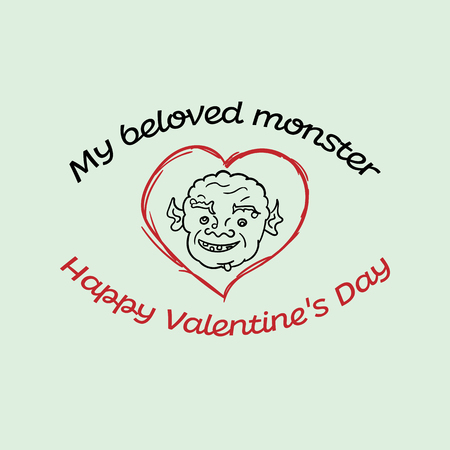 postcard for your favorite monster in vector Ilustrace