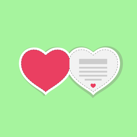 Valentines day greeting card template in vector