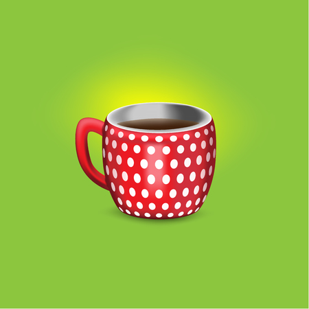 realistic vector illustration of a cup of coffee with texture