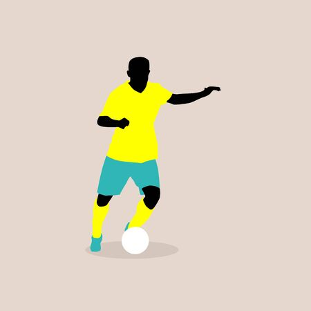 stylish illustration of a football player in vector