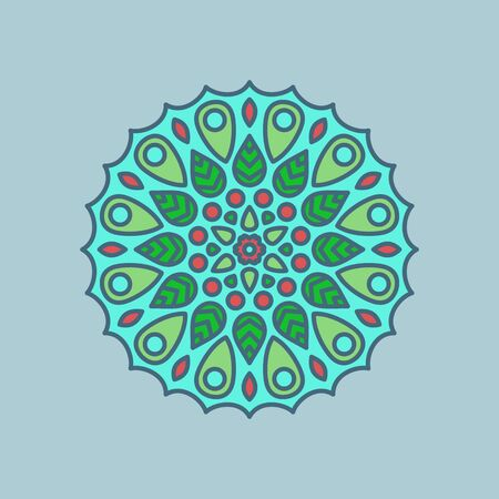 circular mirror vector pattern for different designs Ilustrace