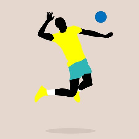 stylish illustration of a volleyball player in vector isolated Ilustrace