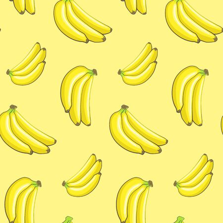 Seamless pattern with bananas Ilustrace