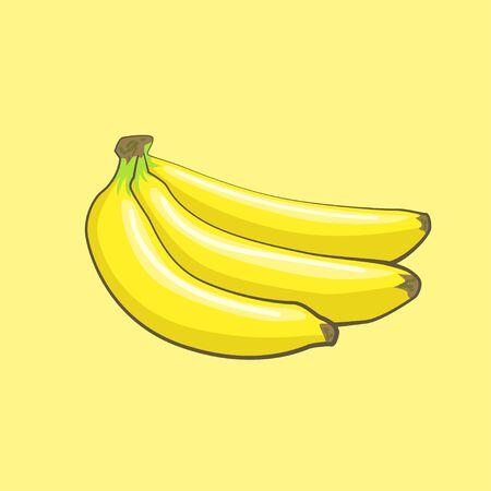 vector banana icon, fruit illustration, healthy diet, fresh tropical banana Foto de archivo - 133864160