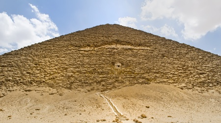 Great Pyramid in the village of Dahshur photo