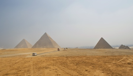 Pyramids of Giza in Egypt Stock Photo - 11359828