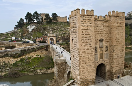 Alcantara Bridge, Toledo, Spain photo