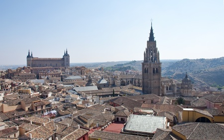 panorama of the city of Toledo, Spain  Stock Photo