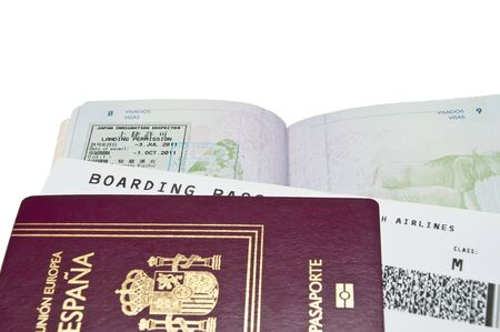 Passports and airline tickets photo