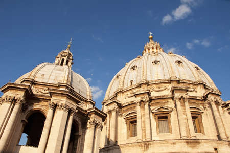st peter: Domes of the Basilica of St. Peter in the Vatican, Rome Editorial