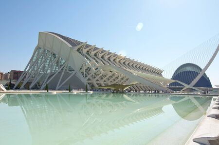 oceanographic: VALENCIA - SEPTEMBER 11: City of Arts and Sciences  on September 11, 2011 in Valencia, Spain