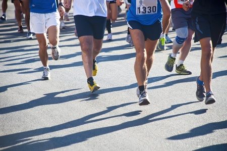 People running a race photo
