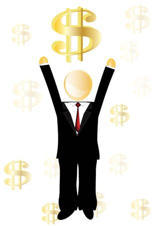 Executive background in finance success Stock Vector - 11596934