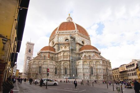 FLORENCE, ITALY-OCTOBER 19: A view of the Basilica of Santa Maria del Fiore on October 19, 2011 in Florence, Italy  Goticorenacentista style is its construction began in 1296 and concluded in 1418