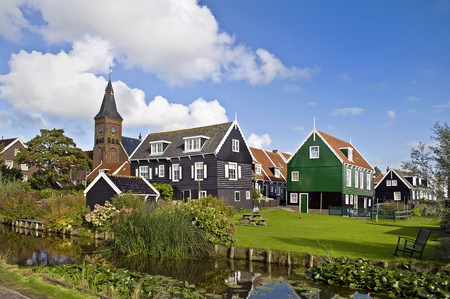 View of a typical Dutch village
