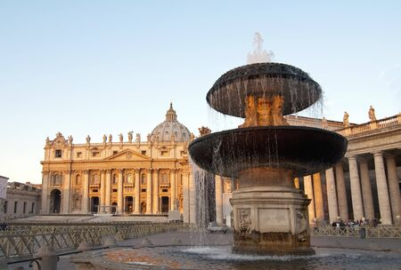 san pedro: ROME, Italy-17 October: source of St. Peters Square is in Vatican City