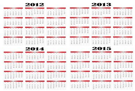 Calendar in Spanish 2012-2013-2014-2015 Stock Vector - 11597037