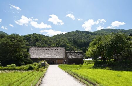 Typical house in the Japanese Alps Stock Photo - 11597051