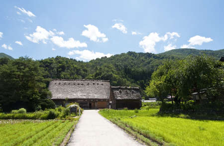 Typical house in the Japanese Alps photo