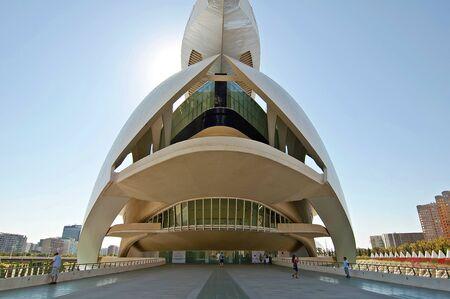 VALENCIA, SPAIN-September 11: Palau de les Arts Reina Sofia in the City of Arts and Sciences