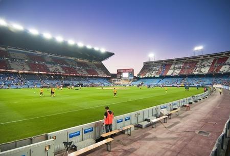 MADRID, SPAIN-SEPTEMBER 15: Vicente Calderon soccer stadium during a soccer game Atlético Madrid vs. Celtic on September 15, 2011 in Madrid, Spain. Atlético Madrid won 2-0.