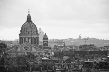 Panorama of the city of Rome, Italy photo