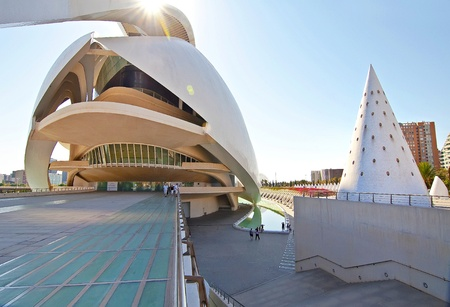 VALENCIA - SEPTEMBER 11:Palau de les Arts Reina Sof�a in the City of Arts and Sciences