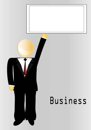 Executive Poster Stock Vector - 11597215