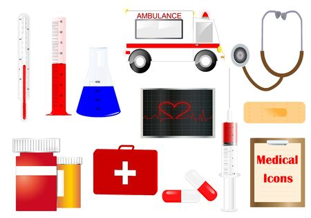er: Medical icons and objects