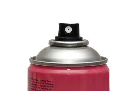 Photograph of an aerosol can on white background photo