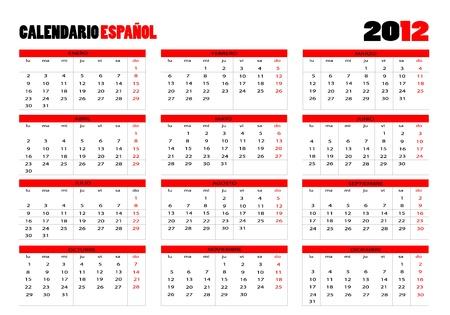 week end: Calendario 2012 en espa�ol