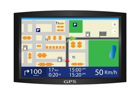 electronic guide: Vector of a GPS