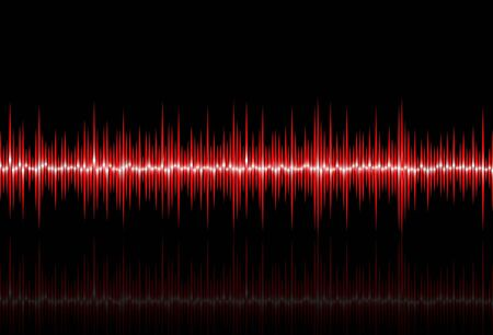 Abstract background with waveform