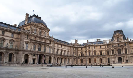PARIS, FRANCE-SEPTEMBER 9:  Louvre Museum outside  on September 9, 2010 in Paris, France.The Louvre was opened in 1793 Stock Photo - 11691591