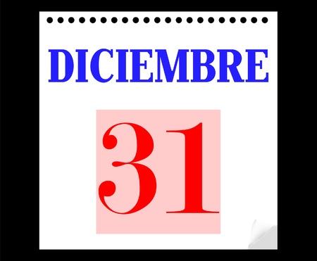 week end: Calendario 31 de diciembre